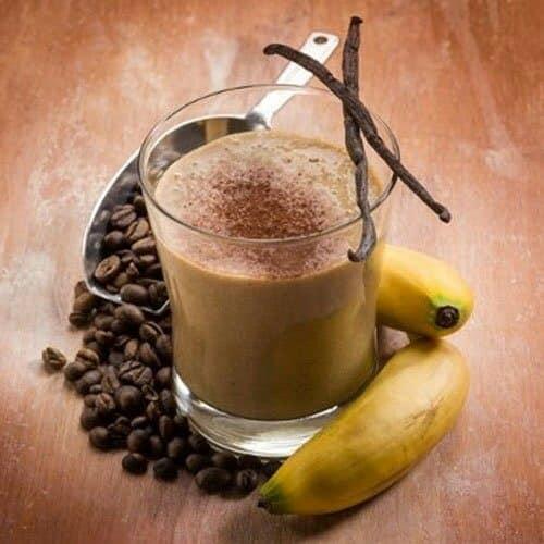 สมูทตี้กาแฟใส่กล้วย