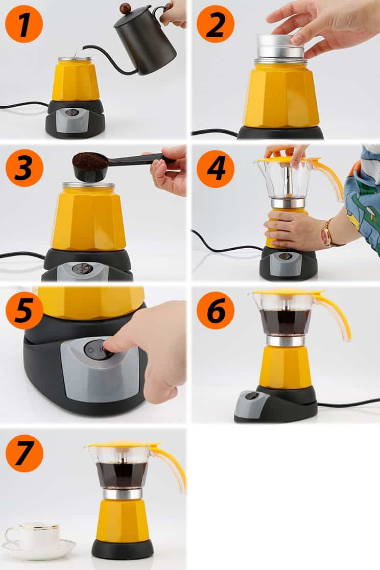 How to use L-Beans electric moka pot