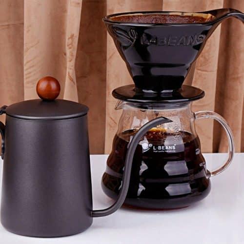 กาดริปกาแฟแบบน้ำหยดจับไม้ L-Beans, 600 มล