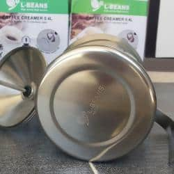 เครื่องตีฟองนม แสตนเลส ตาข่ายสองชั้นขนาด L-Beans