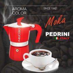 ชุดหม้อต้มกาแฟ Pedrini โมก้าพอต ผลิตในอิตาลี. หม้อต้มกาแฟไฟฟ้า