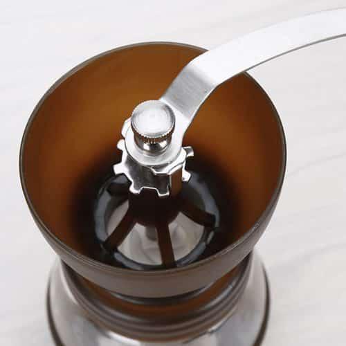 เครื่องบดกาแฟแบบแมนนวล L-Beans (สีน้ำตาล) พร้อมเสี้ยนเซรามิก