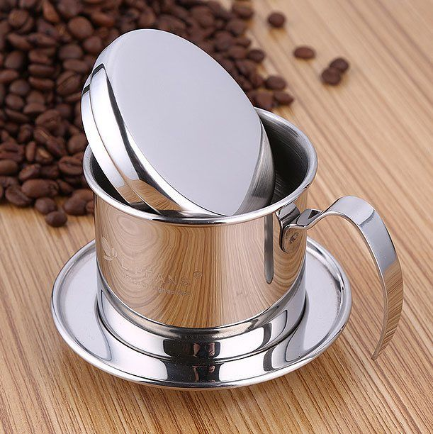 Vietnam coffee pot made of stainless steel